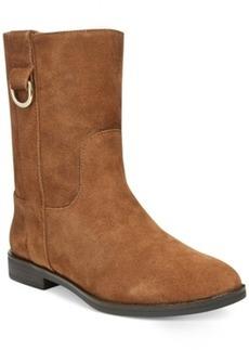 Alfani Anconna Faux-Fur Lined Booties Women's Shoes