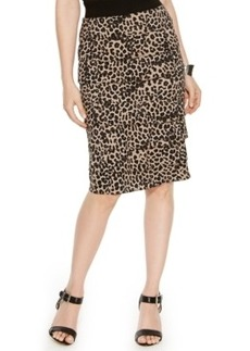 Alfani Animal-Print Tiered Pencil Skirt
