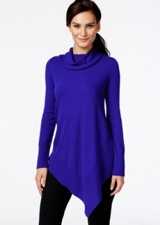 Alfani Asymmetrical-Hem Cowl-Neck Sweater