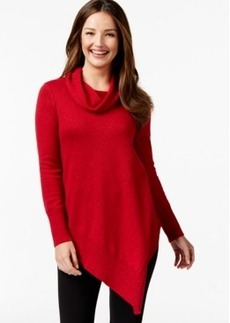 Alfani Asymmetrical-Hem Cowl-Neck Sweater, Only at Macy's