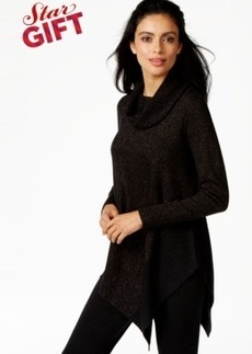 Alfani Asymmetrical-Hem Cowl-Neck Sweater, Only at Macy's