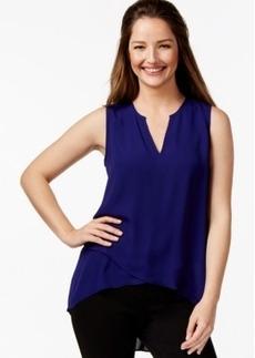 Alfani Asymmetrical-Hem Surplice Top, Only at Macy's