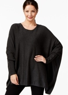 Alfani Bat-Wing Crew-Neck Poncho, Only at Macy's