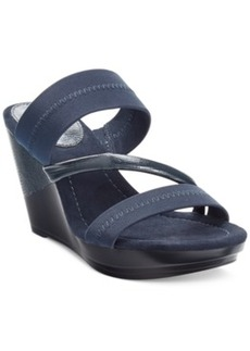 Alfani Bery Stretch Platform Wedge Sandals Women's Shoes