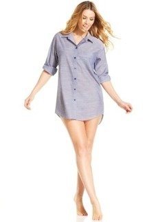 Alfani Button Up Sleepshirt