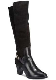 Alfani Careeni Wide Calf Dress Boots, Only at Macy's Women's Shoes