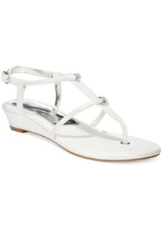 Alfani Castane Demi Wedge Thong Sandals Women's Shoes