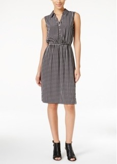 Alfani Check-Print Shirtdress, Only at Macy's