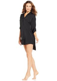 Alfani Classic Black Satin Sleepshirt
