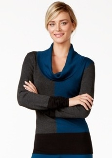 Alfani Colorblocked Cowl-Neck Sweater, Only at Macy's