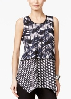 Alfani Combo-Print Popover Top, Only at Macy's