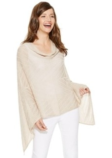 Alfani Cowl-Neck Draped Poncho Top