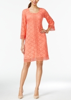 Alfani Crochet-Lace Shift Dress, Only at Macy's