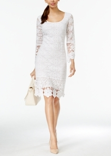 Alfani Petite Crochet Lace Shift Dress, Only at Macy's