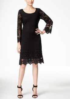 Alfani Crochet Lace Shift Dress, Only at Macy's