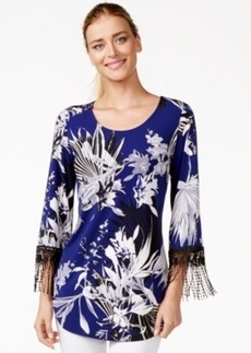 Alfani Crochet-Trim Fringe Top, Only at Macy's