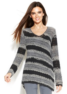 Alfani Diagonal Stripe Chunky-Knit Sweater
