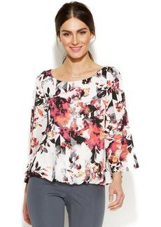 Alfani Digital Floral-Print Blouson Top