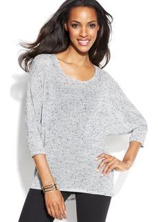 Alfani Petite Dolman-Sleeve Marled Sweater