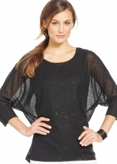 Alfani Dolman-Sleeve Sequined Top