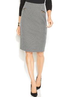 Alfani Dot-Print Pencil Skirt