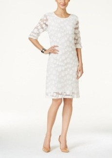 Alfani Elbow-Sleeve Lace Dress, Only at Macy's
