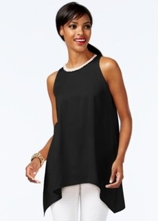 Alfani Embellished Asymmetrical-Hem Top, Only at Macy's