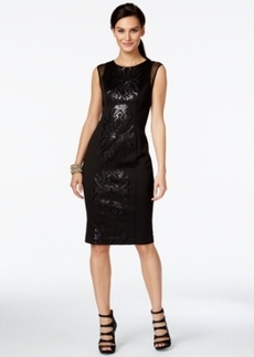Alfani Embellished Cap-Sleeve Sheath Dress, Only at Macy's