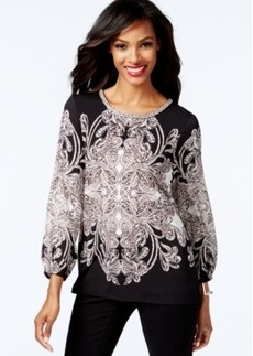 Alfani Embellished Cross-Back Top, Only at Macy's