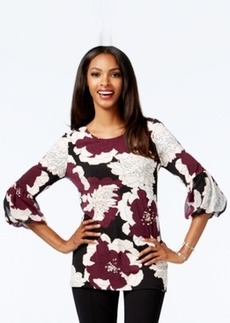 Alfani Embellished Lantern-Sleeve Top, Only at Macy's