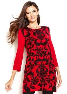 Alfani Embellished Paisley-Print Tunic