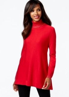 Alfani Embellished Turtleneck Sweater, Only at Macy's