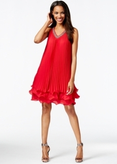 Alfani Embellished V-Neck Ruffled Shift Dress, Only at Macy's
