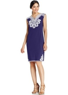 Alfani Embroidered Shift Dress