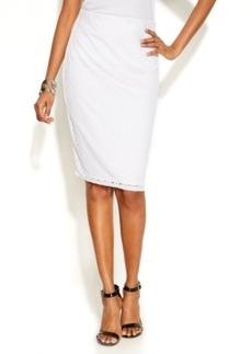Alfani Eyelet Pencil Skirt
