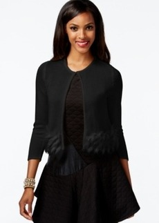Alfani Faux-Fur Cropped Cardigan Sweater, Only at Macy's