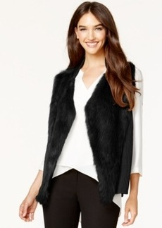 Alfani Faux-Fur-Front Sweater Vest, Only at Macy's