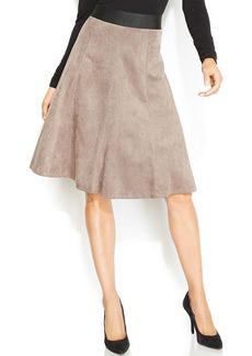 Alfani Faux-Suede A-Line Skirt