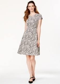 Alfani Floral-Print Flare Dress, Only at Macy's