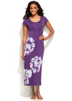 Alfani Floral Print Short Sleeve Long Nightgown