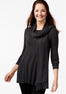 Alfani Fringe Scarf Swing Sweater, Only at Macy's