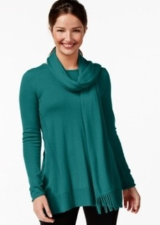 Alfani Fringe Scarf Swing Sweater, Only at Macy's