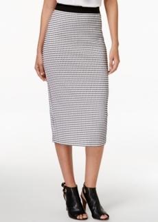 Alfani Gingham-Print Midi Skirt, Only at Macy's