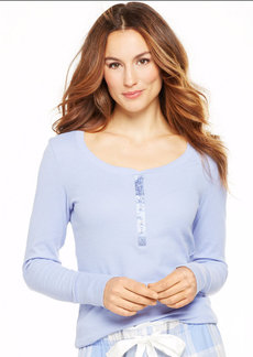 Alfani Henley Long Sleeve Top