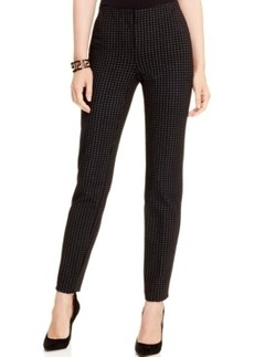 Alfani Houndstooth Ankle Pants, Only at Macy's