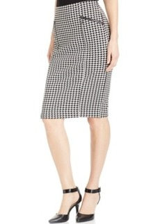Alfani Houndstooth Pencil Skirt, Only at Macy's