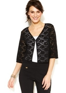 Alfani Illusion-Lace Cropped Cardigan