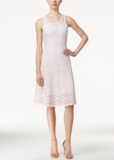 Alfani Petite Lace A-Line Dress, Only at Macy's