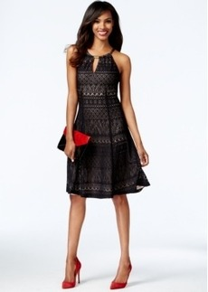 Alfani Lace Hardware Halter Dress, Only at Macy's