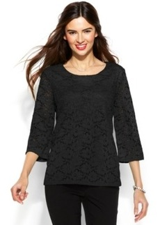 Alfani Lace Scoop-Neck Top
